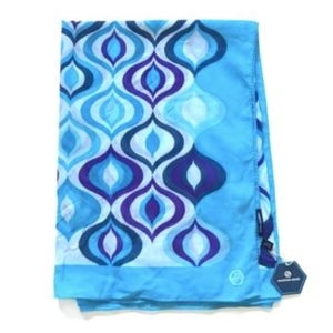 NWT Jonathan Adler Tonal Waves Scarf Wrap Blue NEW